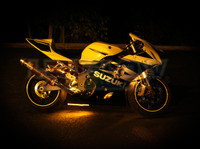 Classic Yellow Motorcycle Lighting Kit