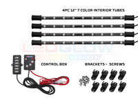 4pc Expandable 7 Color Interior Tubes, Control Box & Junction Cable