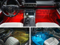 4pc. Expandable 7 Color SMD LED Interior Lights Kit