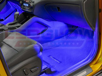 4pc Blue LED Car Interior Lights