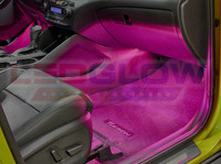 4pc Pink LED Car Interior Lights