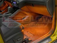 4pc Orange LED Car Interior Lights