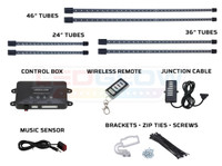 Orange Wireless SMD LED Truck Underbody Lighting Kit