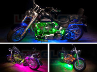 Advanced Million Color Motorcycle Light Kit Installed