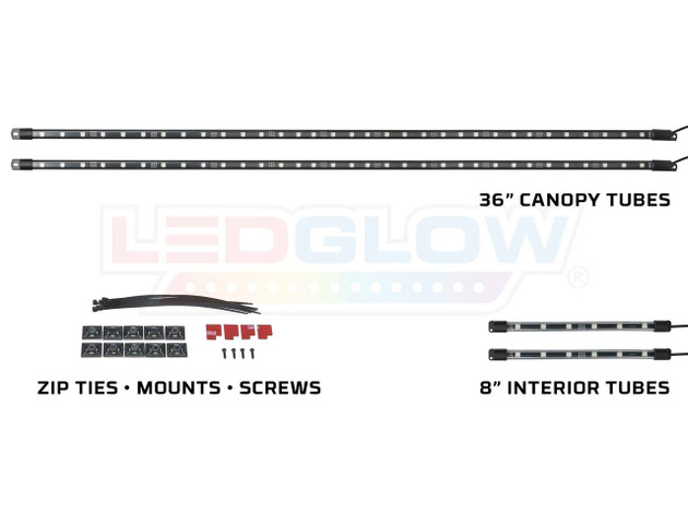 Million Color Golf Cart Canopy & Interior Lights Add-On Kit