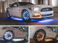 Installed Gallery of 4pc Million Color LED Wheel Ring Light Kit