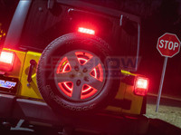 Spare Tire Third Brake Light for Jeep Wrangler JK
