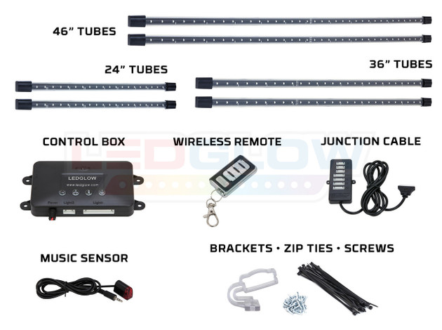 Amber Wireless SMD LED Truck Underbody Lighting Kit