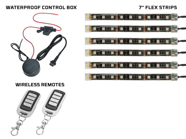 Advanced Million Color SMD Lighting Strips, Control Box, and Wireless Remote