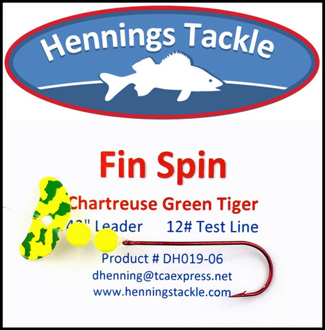 Fin Spins - Chartreuse/Green Tiger