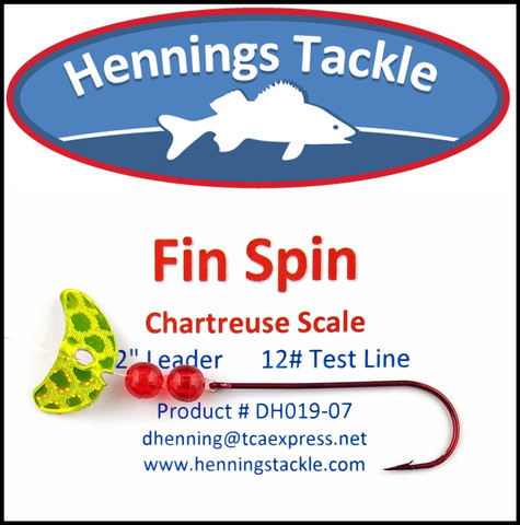 Fin Spins - Chartreuse Scale