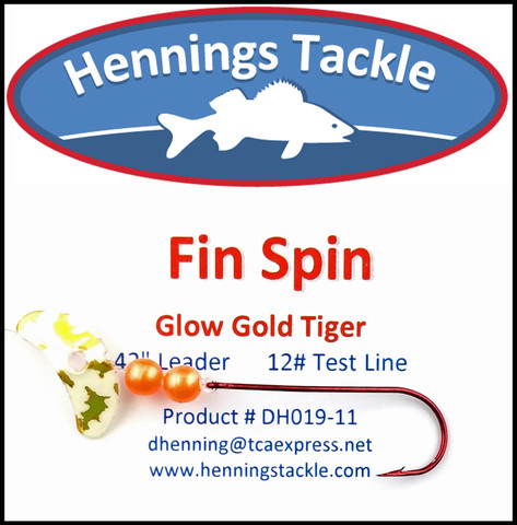 Fin Spins - Glo Gold Tiger