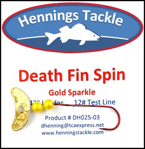 Death Fin Spins - Gold Sparkle