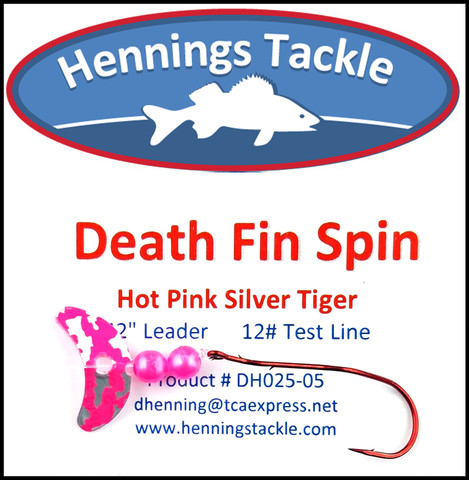 Death Fin Spins - Hot Pink Silver Tiger