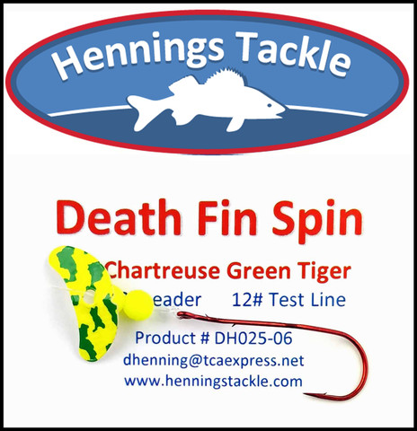 Death Fin Spins - Chartreuse/Green Tiger