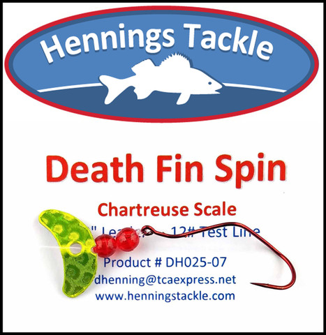 Death Fin Spins - Chartreuse Scale