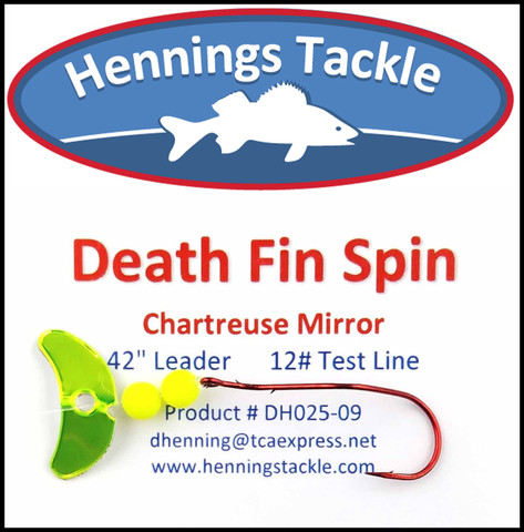 Death Fin Spins - Chartreuse Mirror
