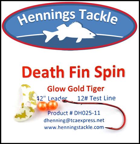 Death Fin Spins - Glo Gold Tiger