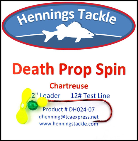 Death Prop Spins - Chartreuse