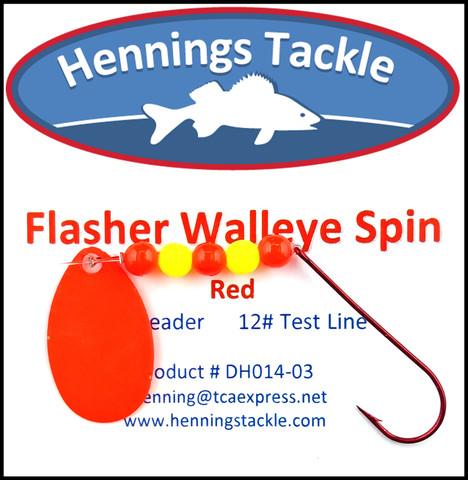 Flasher Walleye Spins - Red