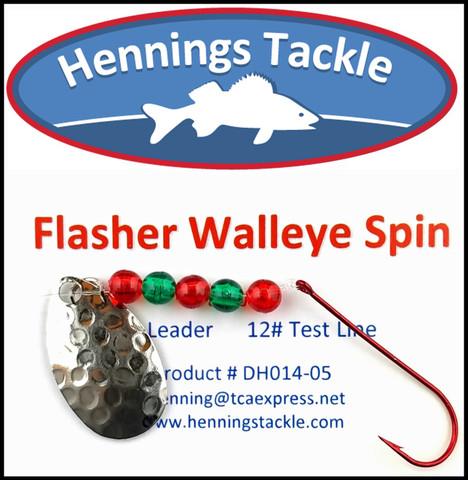 Flasher Walleye Spins - Silver