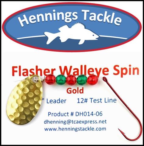 Flasher Walleye Spins - Gold