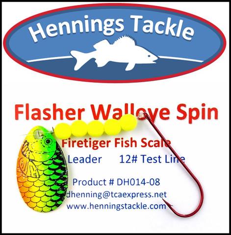 Flasher Walleye Spins - Firetiger Fish Scale