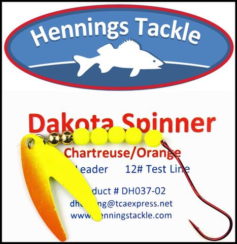 Dakota Spinner - Chartreuse/Orange