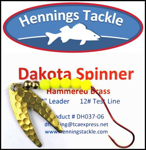 Dakota Spinner - Hammered Brass