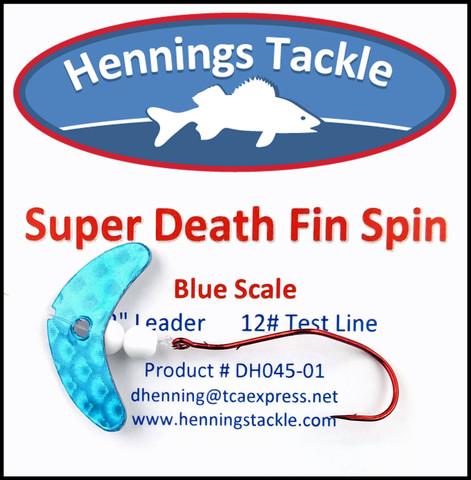Super Death Fin Spins - Blue Scale