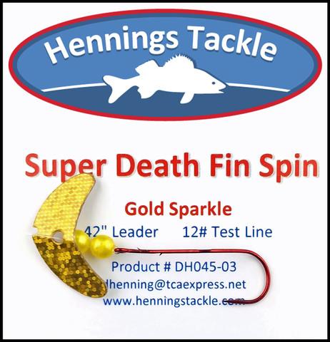 Super Death Fin Spins - Gold Sparkle