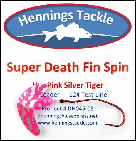 Super Death Fin Spins - Hot Pink Silver Tiger