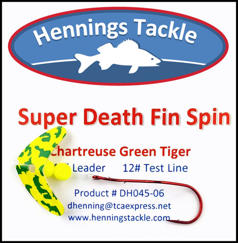 Super Death Fin Spins - Chartreuse/Green Tiger