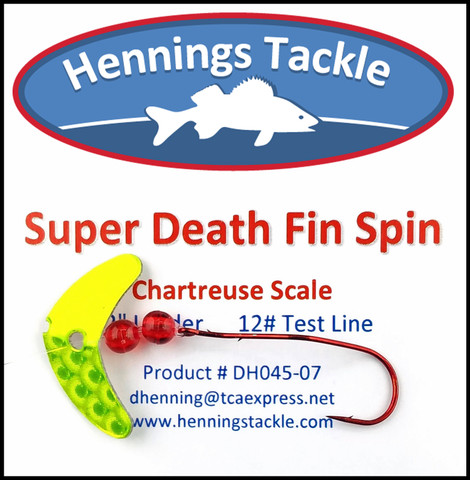 Super Death Fin Spins - Chartreuse Scale