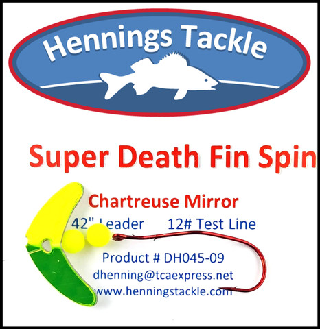 Super Death Fin Spins - Chartreuse Mirror