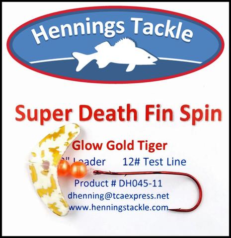 Super Death Fin Spins - Glo Gold Tiger