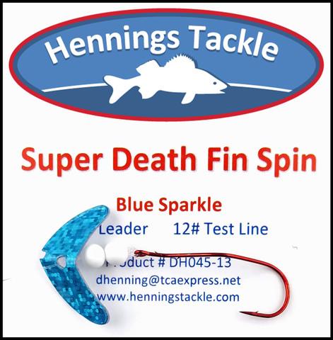Super Death Fin Spins - Blue Sparkle