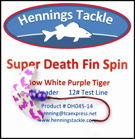 Super Death Fin Spins - Glow White Purple Tiger