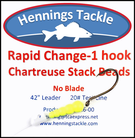 Rapid Change - 1 Hook - Chartreuse Stack Beads