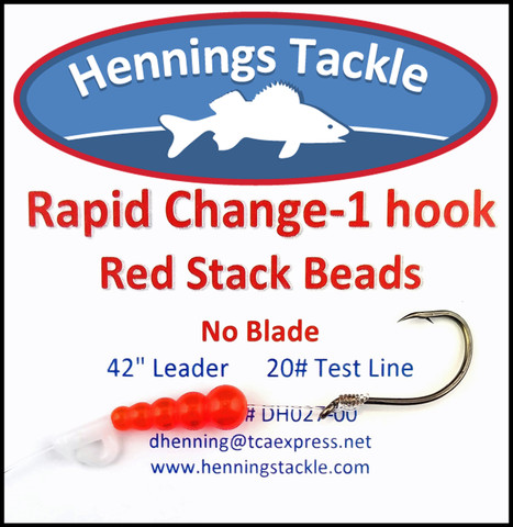 Rapid Change - 1 Hook - Red Stack Beads