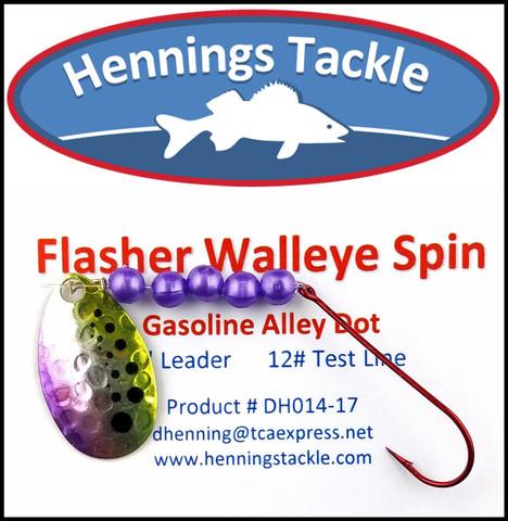 Flasher Walleye Spins - Gasoline Alley Dot