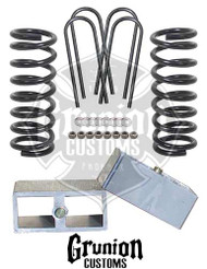 "Chevy S10 Truck 2/3"" Rear Lowering Block Kit"