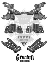 "GMC C1500 2/4"" Lowering Kit, Front Drop Spindles Rear Shackles, Hangers"