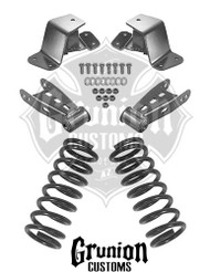 "GMC C1500 2/4"" Lowering Kit, Front Drop Coils, Rear Shackles, Rear Drop Hangers"