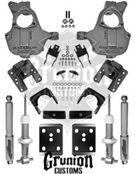 GMC Sierra 2016 ½ Single Cab Stamped A Arms 3/5 - 4/6 Lowering Kit McGaughys 34270