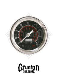 """Viair Air Pressure Gauge 2"""" BLACK Face Single Needle 160 PSI 90088"""
