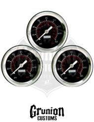 """Viair Air Pressure Gauges 1.5"""" Black Single Needle 160 PSI 90085"""