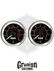 "Viair (2) Air Pressure Gauges 1.5"" Black Single Needle Air Suspension 160 PSI 90085"