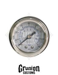 """Viair Air Pressure Gauge 1.5"""" WHITE Single Needle 160 PSI 90084"""