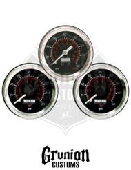 """Viair 2"""" Air Pressure Gauges 160 PSI Dual & Single Needle Black Face 3 Pack 90082 / 90088"""